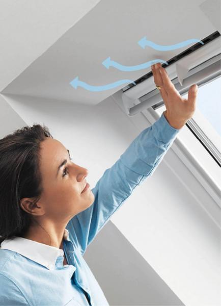 VELUX ZZZ 214K GU1 Balanced Ventilation Kupfer für VELUX Schwingfenster