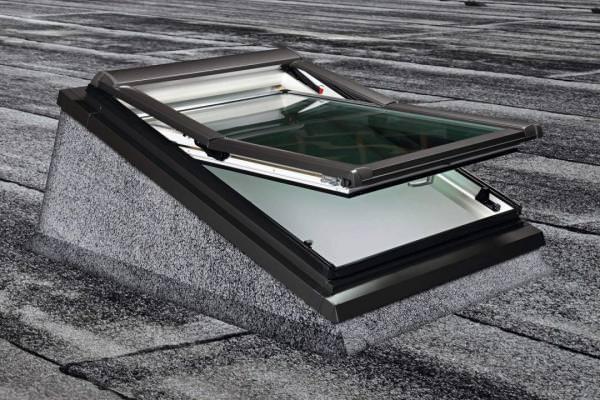 Roto Einbaurahmen EBR Rx 1x1 Flachdachfenster Aluminium wärmegedämmt