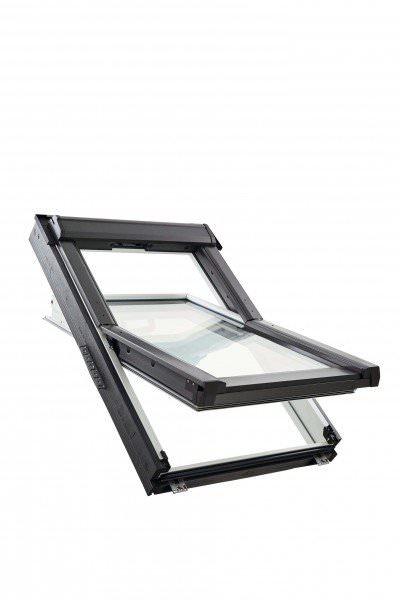 Roto Dachfenster Q4 W2C Holz weiß lackiert Schwingfenster 2-fach Comfort Aluminium