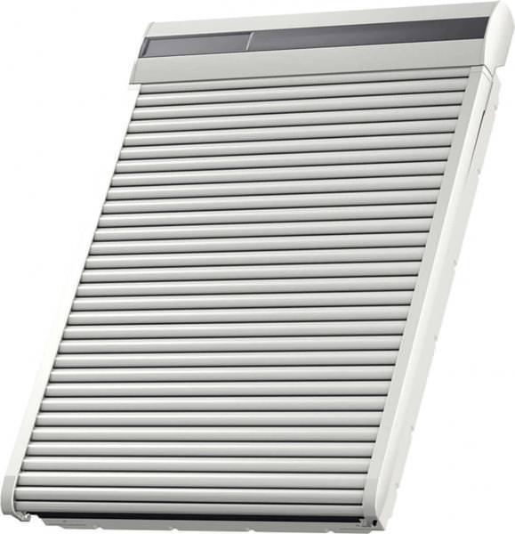 VELUX SSL 0700S Aluminium INTEGRA® Solar-Rollladen Hellgrau inkl. Funk-Wandschalter