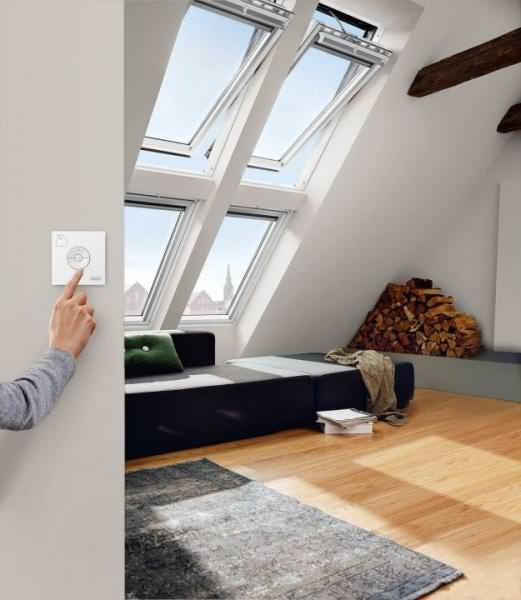 VELUX Dachfenster GGL 216221 Holz INTEGRA Elektrofenster weiß lackiert ENERGIE SCHALLSCHUTZ Kupfer