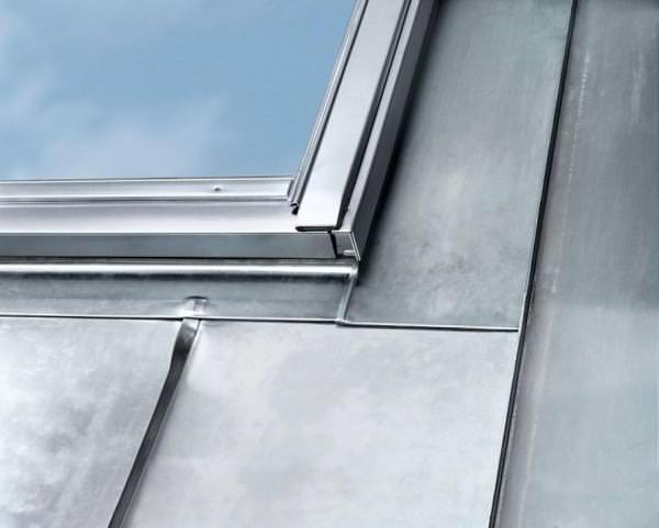 VELUX EDE 0300 Eindeckrahmen Metall-Stehfalz Titanzink