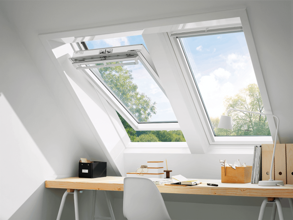 VELUX Solar Dachfenster GGL 206830 Holz weiß lackiert INTEGRA Energie Aluminium