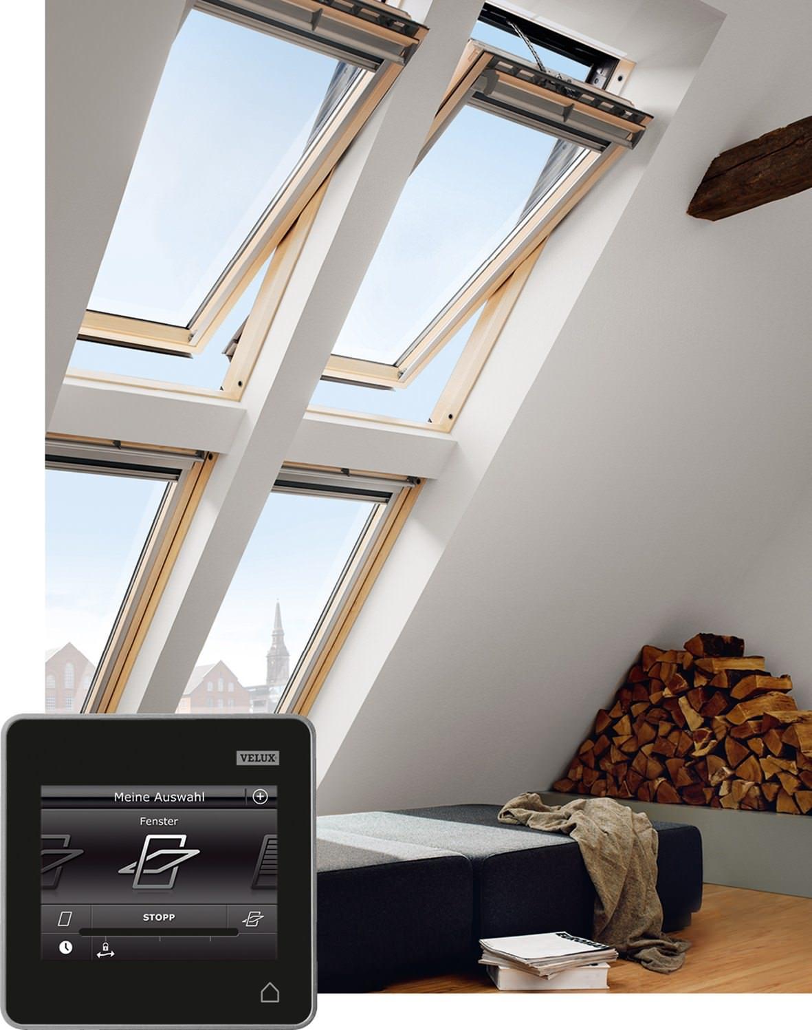 velux dachfenster ggl 306221 holz integra elektrofenster klar lackiert energie schallschutz alumini. Black Bedroom Furniture Sets. Home Design Ideas