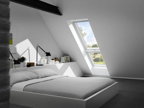 VELUX Dachfenster GTL 2166 Holz Wohn- und Ausstiegsfenster weiß lackiert ENERGIE PLUS Kupfer