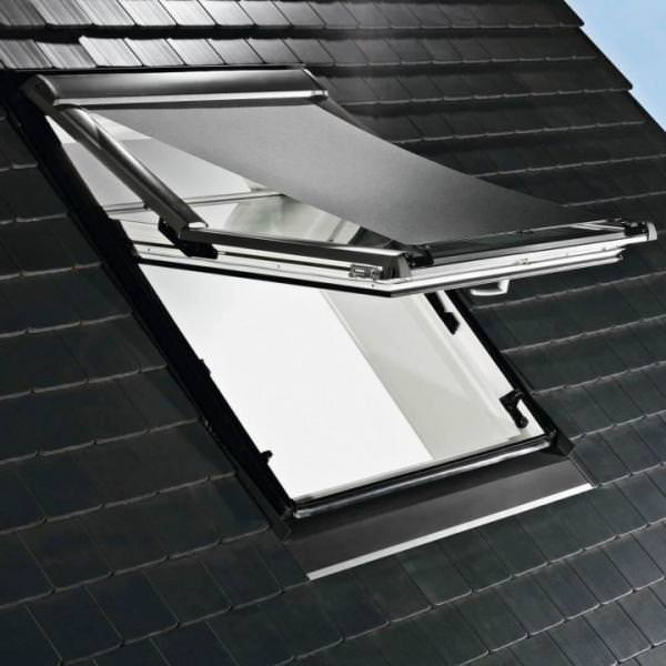 Roto ZAR Hitzeschutz-Markise Screen Designo R8 Standard-Renovierung Manuell Aluminium