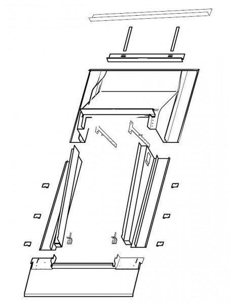 Roto EDR Rx SNO Eindeckrahmen Schiefer/Schindel/Biberschwanz mit Nocken wärmegedämmt Aluminium