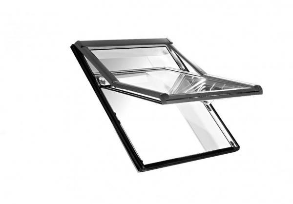Roto Dachfenster WDF R75 Kunststoff Designo R7 Hoch-Schwingfenster blueLine Aluminium 09/09
