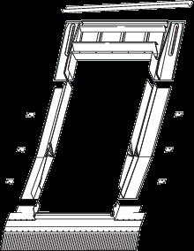 Roto EDJ Eindeckrahmen für Ziegel, Wellplatten, Biberschwanz vertieften Einbau Titanzink