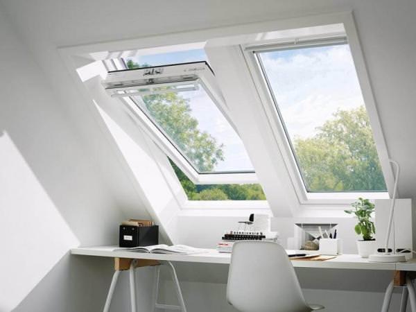 VELUX Dachfenster GGU 0070 Kunststoff Schwingfenster THERMO Aluminium