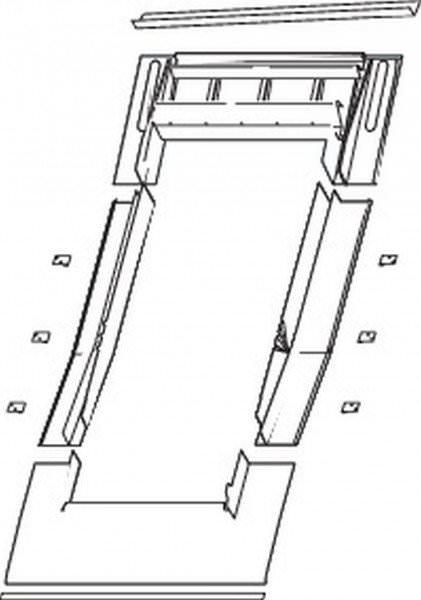 Roto ETL Rx EZI Eindeckrahmen Ebene Pfanne/Ziegel/Biberschwanz tiefer gelegt wärmegedämmt Aluminium
