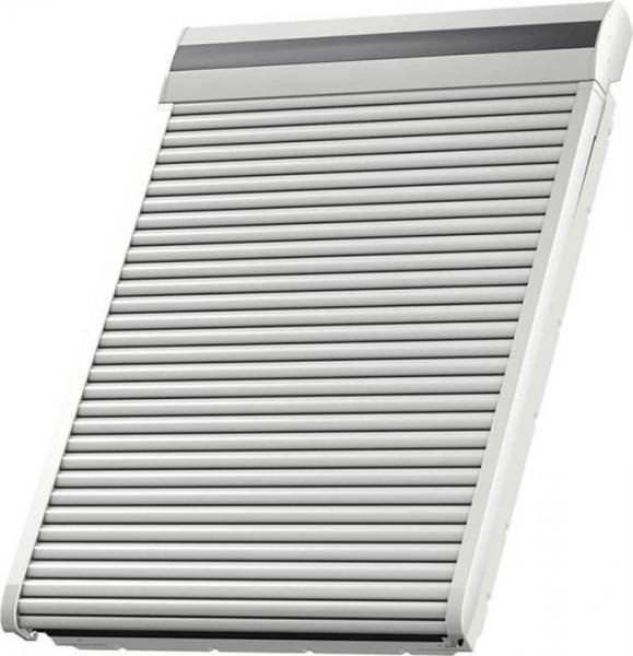 VELUX SMG 0700S Aluminium INTEGRA® Elektro-Rollladen Oben-/ Untenelement Hellgrau für Lichtband