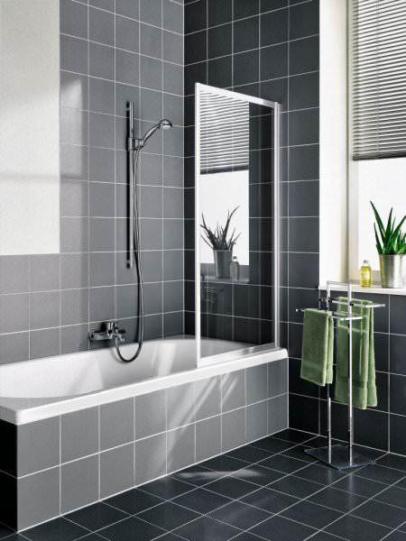 KERMI Faltwand VARIO 2000 1-flügelig für Badewanne