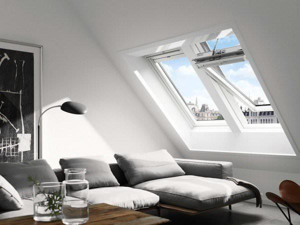 VELUX Dachfenster GGL 236030 Holz INTEGRA® Solarfenster weiß lackiert THERMO PLUS Titanzink