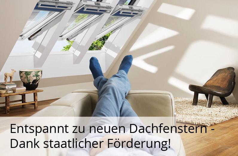 Jetzt Dachfenster modernisieren und dabei von mindestens 20% staatlicher Förderung profitieren!