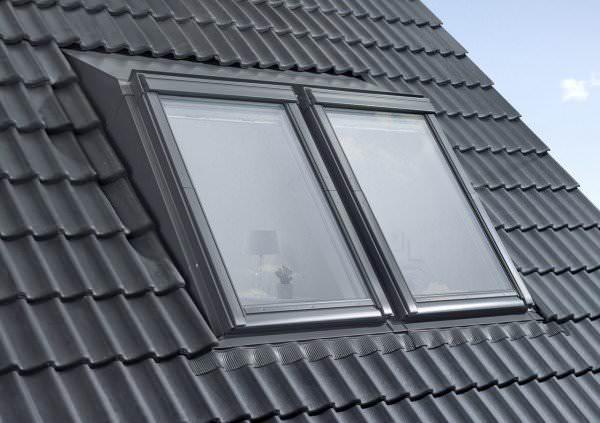 VELUX EAS 6021E Kombi-Aufkeilrahmen Schiefer Stehfalz Aluminium