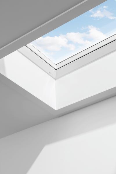 VELUX LSF 2000 Innenfutter für Flachdachfenster 70 cm Kunststoff weiß inkl. Dampfsperrschürze BBX
