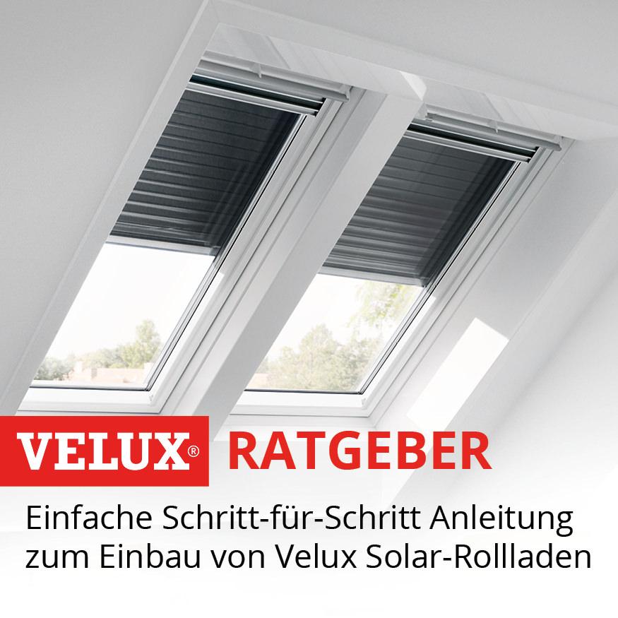 VELUX SSL Solar-Rollladen Einbauvideo