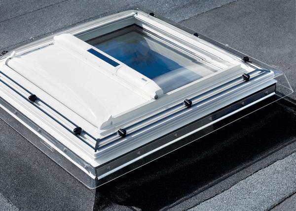 VELUX MSG Hitzeschutz-Markise Flachdachfenster solar Uni Weiß