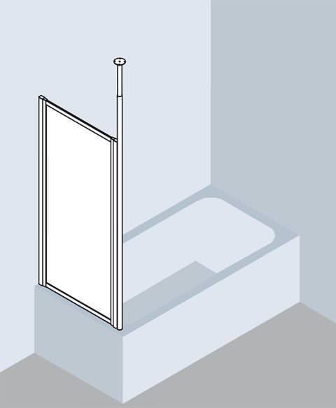 Kermi VARIO 2000 Seitenwand Badewannenaufsatz V2 TWD