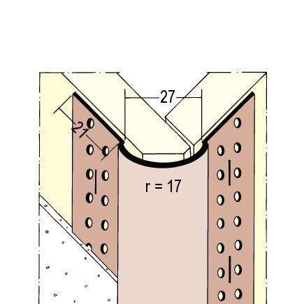 Protektor Kantenprofil PVC Nr. 3776 L 305 cm, weiss
