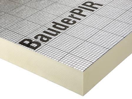 Bauder PIR FA TE glatte Kante WLS 023 40 mm, 1200x600 mm 8,64 m²/Pak.