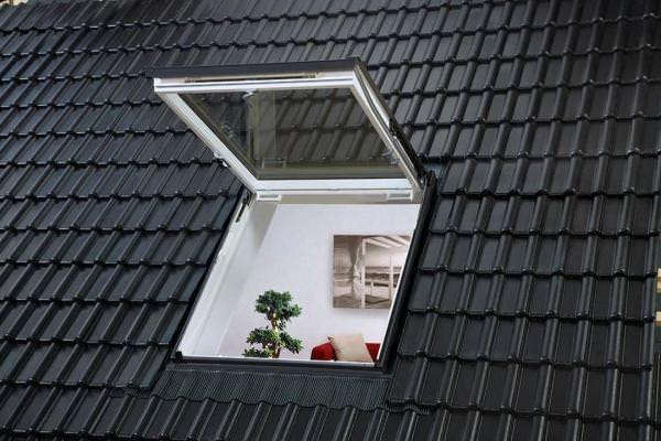 VELUX Dachfenster GTU 0070 Kunststoff Wohn- und Ausstiegsfenster THERMO Aluminium