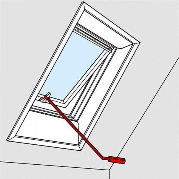VELUX ZCZ 112 Bedienungsstange 120 cm für VELUX Klapp-Schwingfenster