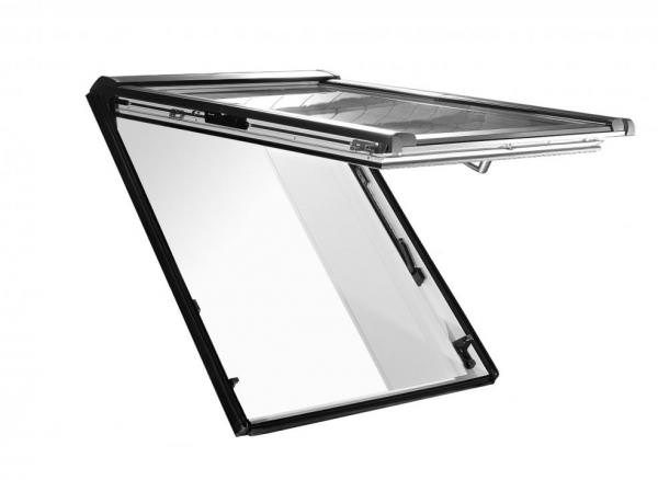 Roto Dachfenster WDF R88G Holz Designo R8 Klapp-Schwingfenster blueLine Plus Sun Aluminium