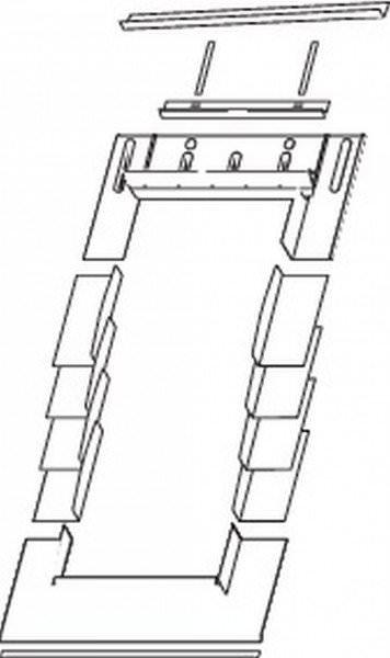 Roto EDR Rx SNO Eindeckrahmen Schiefer/Schindel/Biberschwanz mit Nocken ungedämmt Aluminium
