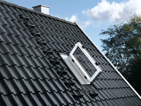 VELUX Dachfenster GXU 0370 Kunststoff Wohn-/Ausstiegsfenster Türfunktion THERMO Titanzink
