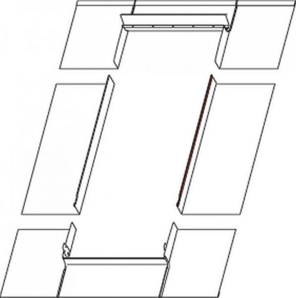 Roto EDR Rx MET Eindeckrahmen Metalldacheindeckung Stehfalz/Doppelstehfalz ungedämmt Kupfer