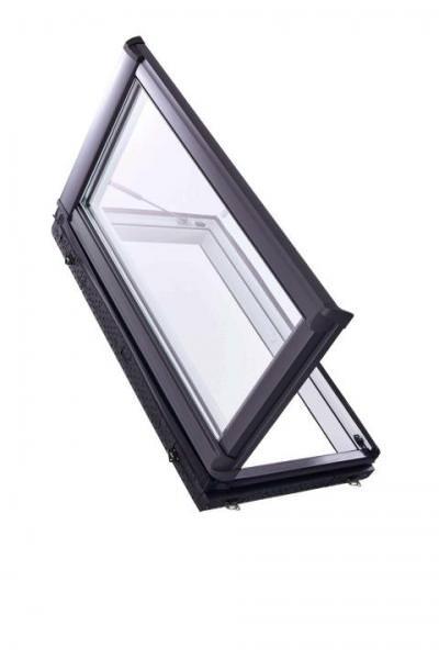 Roto Dachfenster WDA R38 Kunststoff Designo R3 Wohndachausstieg 2-fach Comfort Aluminium Links