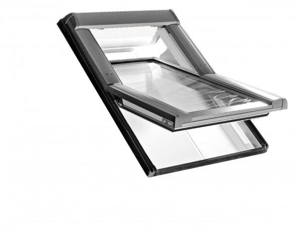 Roto Dachfenster WDT R65 Kunststoff RotoTronic Solar-Schwingfenster blueLine Aluminium