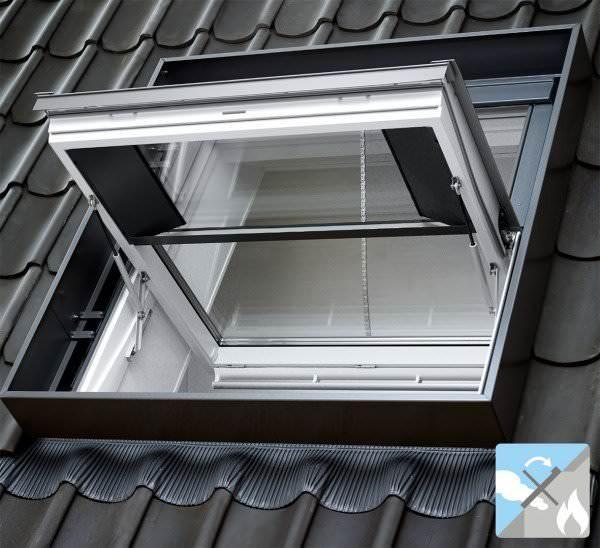 VELUX Dachfenster GGL SD00402 Holz Rauch-Wärmeabzugsfenster klar lackiert ENERGIE PLUS Aluminium