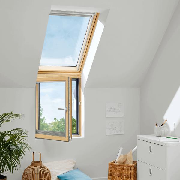 "VELUX Dachfenster VFB 3070 Holz Zusatzelement rechts ""FASSADE"" Thermo Aluminium"