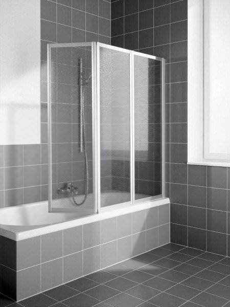 KERMI Faltwand VARIO 2000 3-flügelig für Badewanne