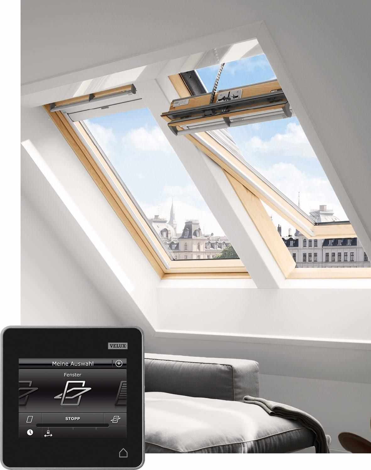 velux dachfenster ggl 316030 holz integra solarfenster klar lackiert thermo plus kupfer. Black Bedroom Furniture Sets. Home Design Ideas