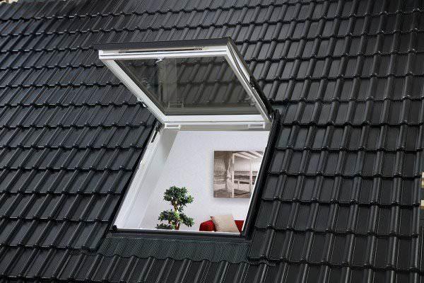 VELUX Dachfenster GTU 0360 Kunstsoff Wohn- und Ausstiegsfenster THERMO PLUS Titanzink