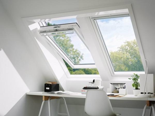 VELUX Dachfenster GGU 0059 Kunststoff Schwingfenster THERMO-STAR Aluminium