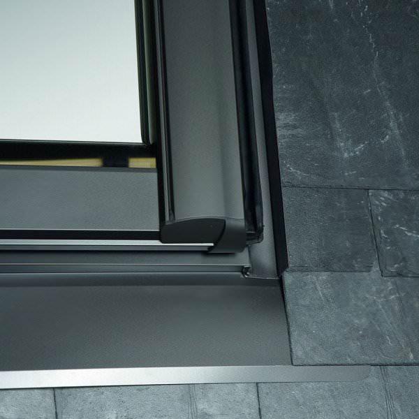 Roto ESR R8 Designo Austausch-Eindeckrahmen Schiefer mit Nocken Aluminium