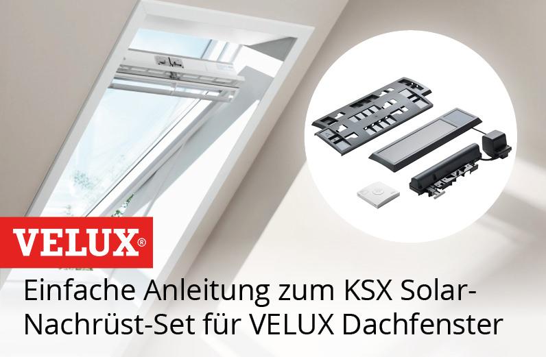 Einbau KSX Solar-Nachrüst-Set für VELUX Dachfenster