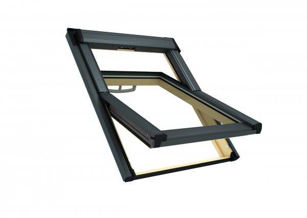 Roto Q-4 H2 Austausch-Dachfenster Comfort Holz natur 2fach Verglasung Titanzink