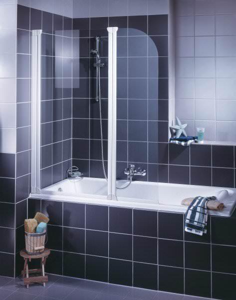 Schulte ExpressPlus Komfort Badewannenfaltwand Rahmenlos 2-teilig