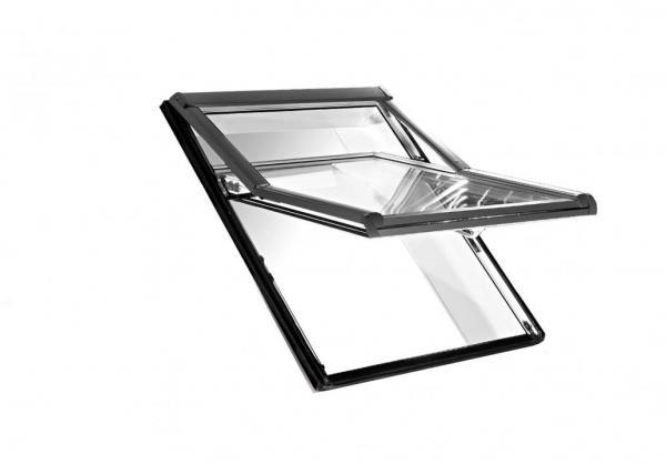 Roto Dachfenster WDF R75 Holz Designo R7 Hoch-Schwingfenster blueLine Aluminium