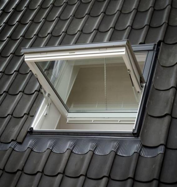 VELUX Dachfenster GGL 206640 Holz Rauchabzugsfenster weiß lackiert ENERGIE PLUS Aluminium