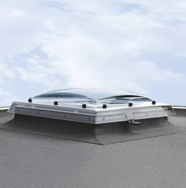 VELUX Flachdachfenster KUPPEL ISD 0100 undurchsichtiges Acryl