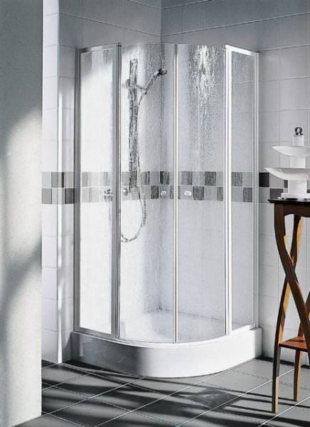 Kermi NOVA 2000 Viertelkreis-Duschkabine mit Pendeltüren mit Festfeldern N2 P