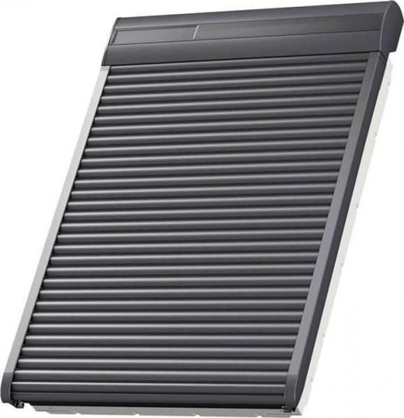 VELUX SSL 0000S Aluminium INTEGRA® Solar-Rollladen Dunkelgrau inkl. Fernbedienung