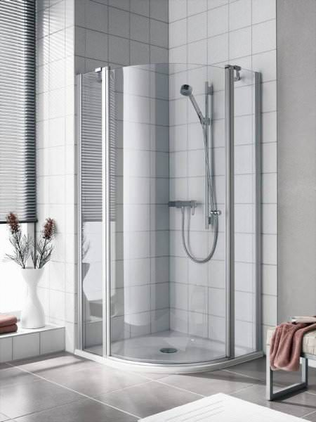 KERMI Viertelkreis-Schwingtür Duschkabine IBIZA 2000 aus Echtglas